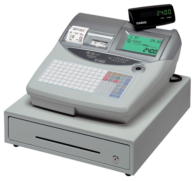 Casio Te 2400 Cash Register Till From Discount Cash Registers