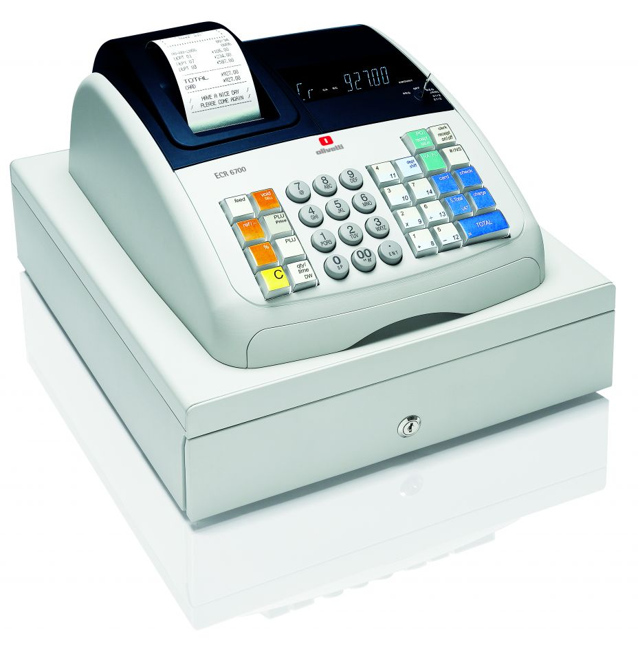 olivetti ecr 7700 cash register till from discount cash registers. Black Bedroom Furniture Sets. Home Design Ideas