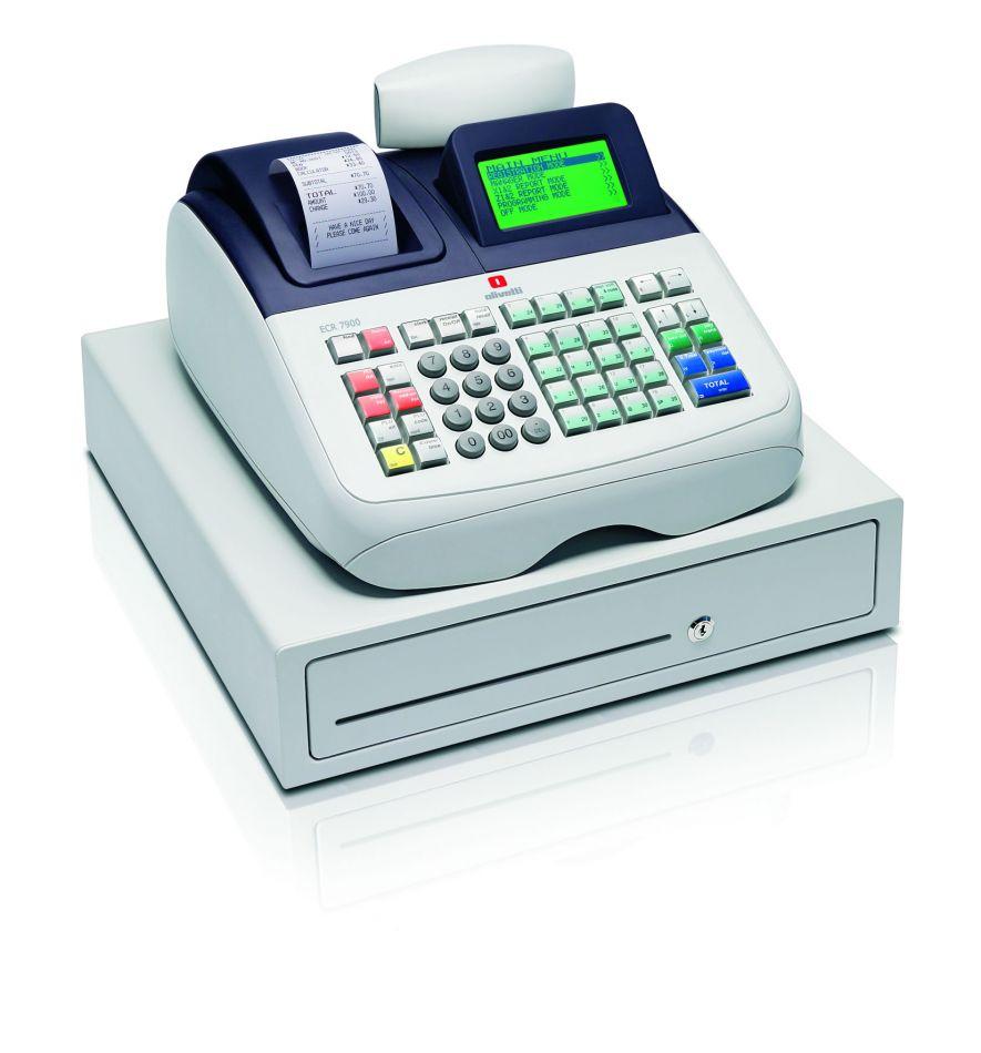 Olivetti Ecr 7900 Cash Register Till From Discount Cash