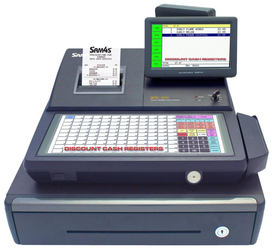 Sam4s Sps 530 Cash Register Touch Screen Till From