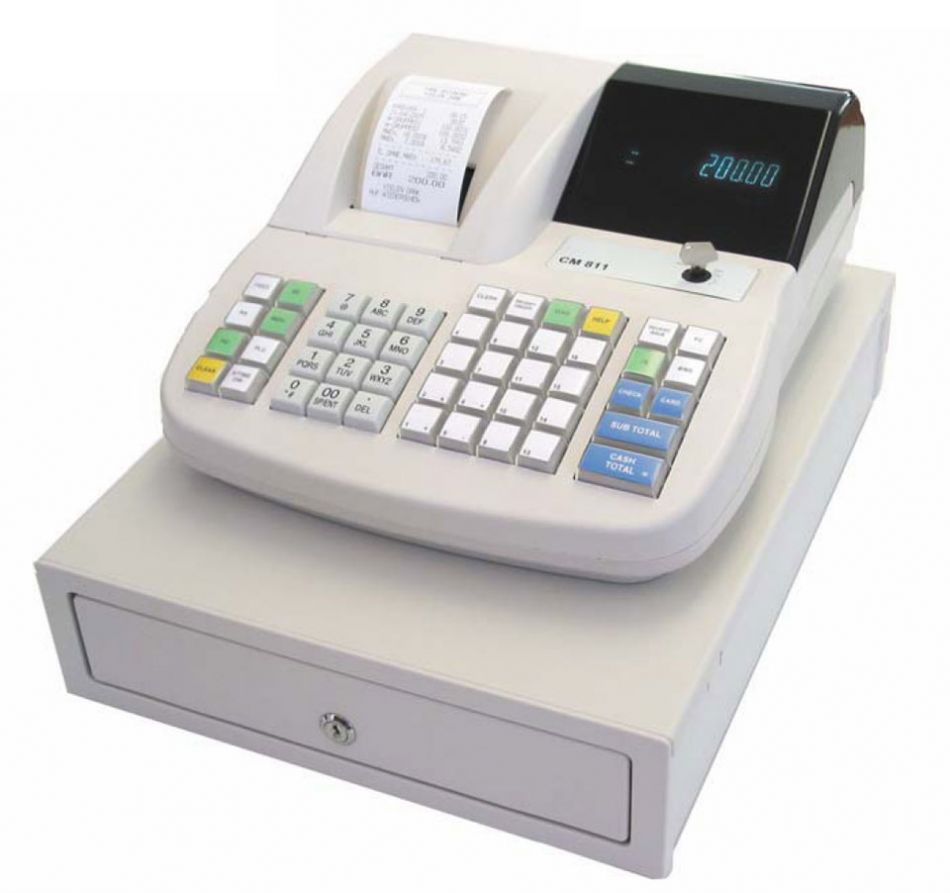 the cash register Definition of cash register: electronic device used to calculate financial  transactions most cash registers consist of a keyboard that is used to input  entries,.